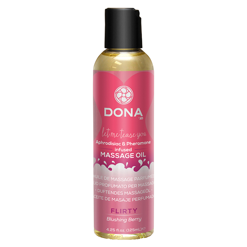 Массажное масло DONA Scented Massage Oil Flirty Aroma Blushing Berry 125 мл