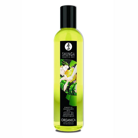 Массажное масло Shunga Organica Exotic Green Tea, зеленый чай