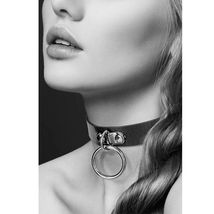 Чокер с кольцом Collier Fetish Noir, черный