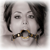 Кляп-рамка Fetish Fantasy Gold O-Ring Gag черный с золотом