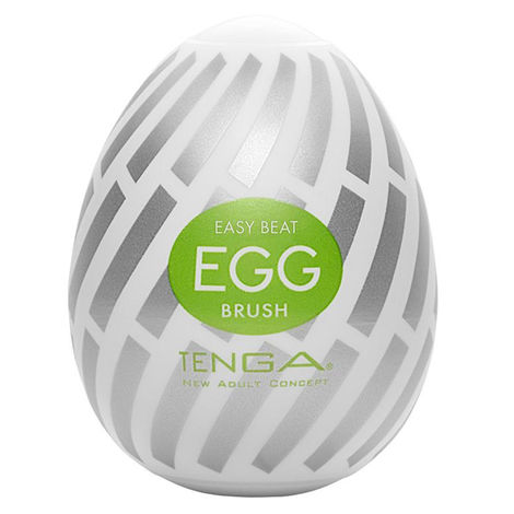 Мастурбатор в форме яйца Tenga Easy Beat Egg Brush, белый