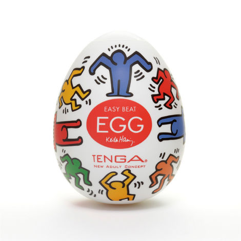 Мастурбатор Tenga & Keith Haring Egg Dance, разноцветный