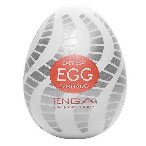 Мастурбатор в форме яйца Tenga Easy Beat Egg Tornado, белый