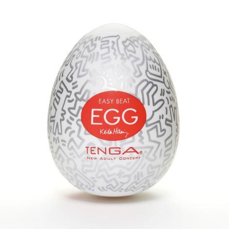 Мастурбатор Tenga & Keith Haring Egg Party, разноцветный
