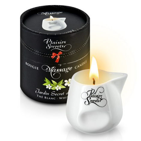 Свеча с массажным маслом аромат белого чая Massage Candle White Tea, 80 мл.
