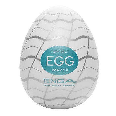 Мастурбатор в форме яйца Tenga Easy Beat Egg Wavy II, белый